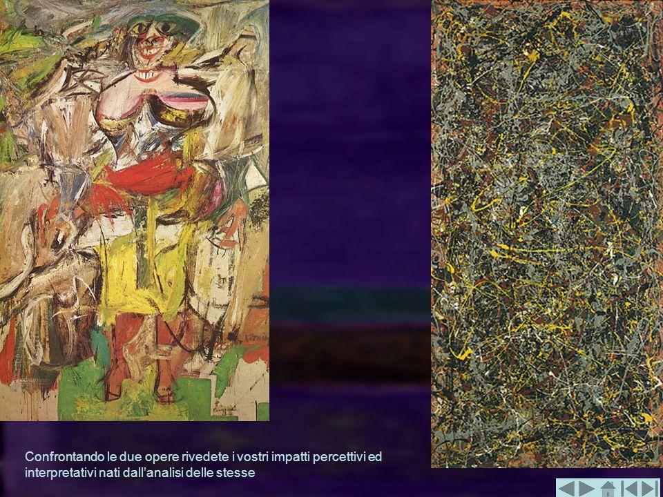 Confrontando le due opere rivedete i vostri impatti percettivi ed interpretativi nati dall'analisi delle stesse
