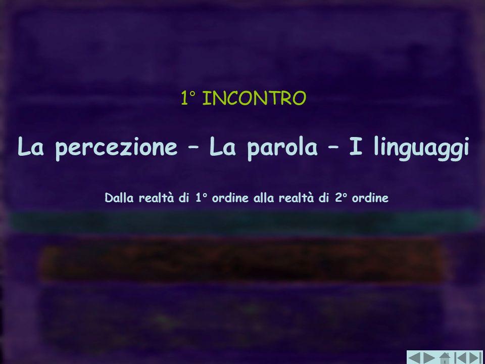 La percezione – La parola – I linguaggi