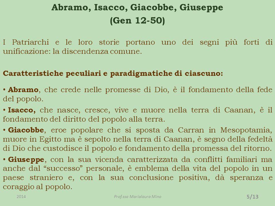 Abramo, Isacco, Giacobbe, Giuseppe