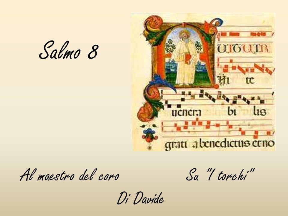Salmo 8 Al maestro del coro Su I torchi Di Davide