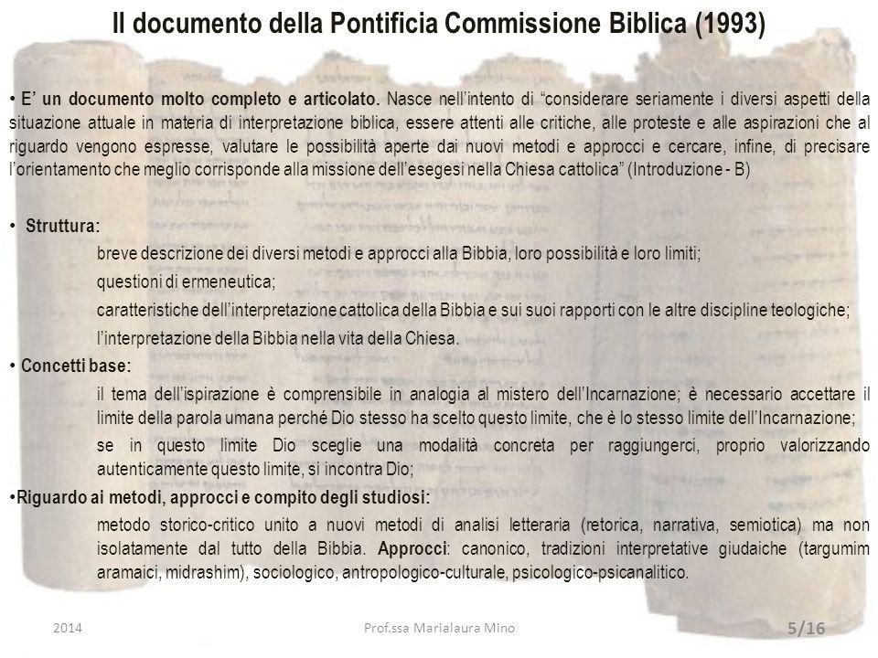 Il documento della Pontificia Commissione Biblica (1993)
