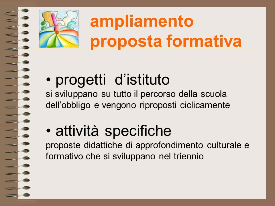 ampliamento proposta formativa