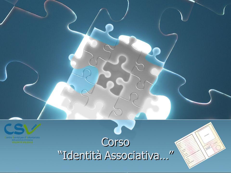 Corso Identità Associativa…