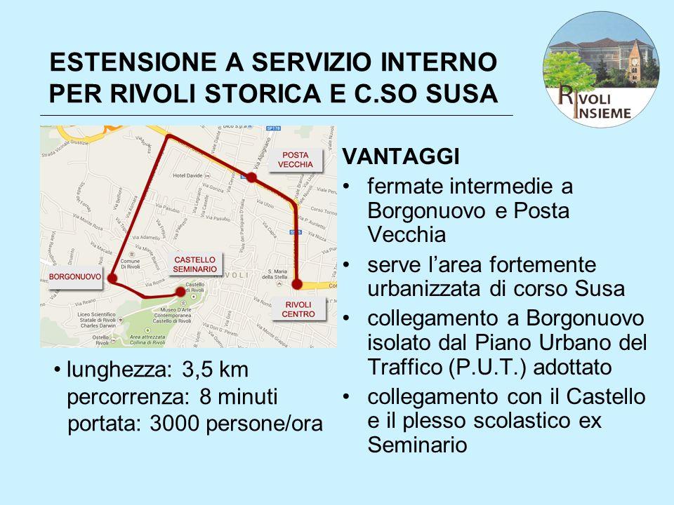 ESTENSIONE A SERVIZIO INTERNO PER RIVOLI STORICA E C.SO SUSA