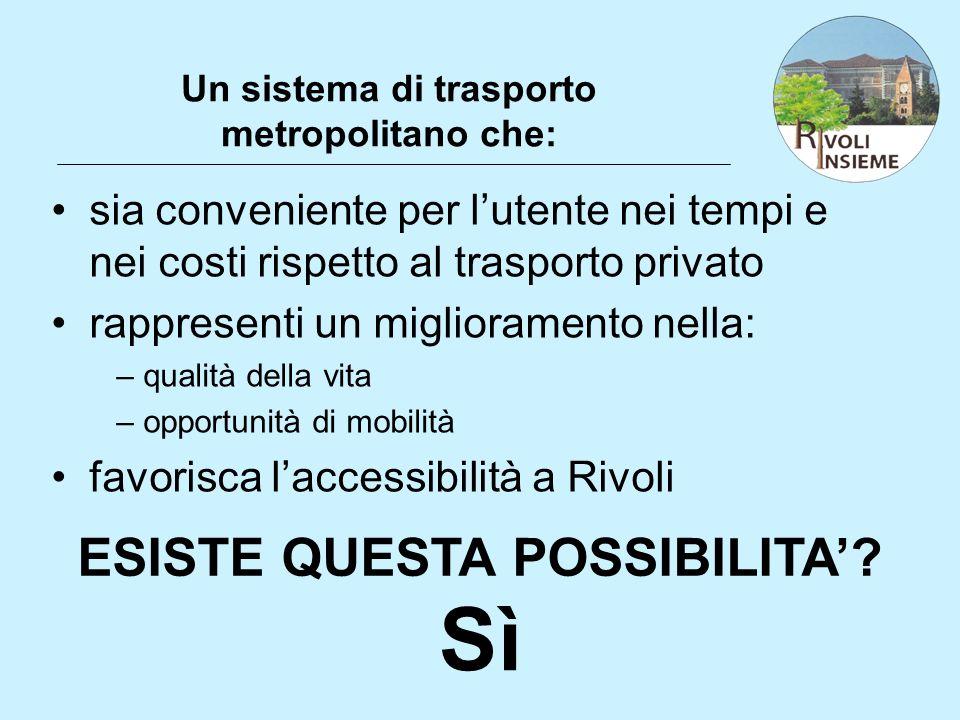 Un sistema di trasporto metropolitano che: