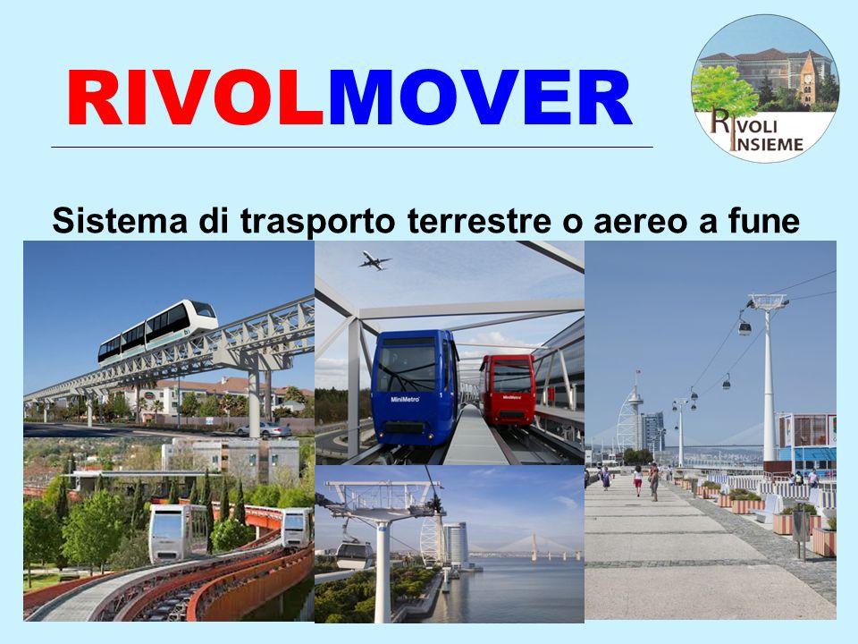 RIVOLMOVER Sistema di trasporto terrestre o aereo a fune