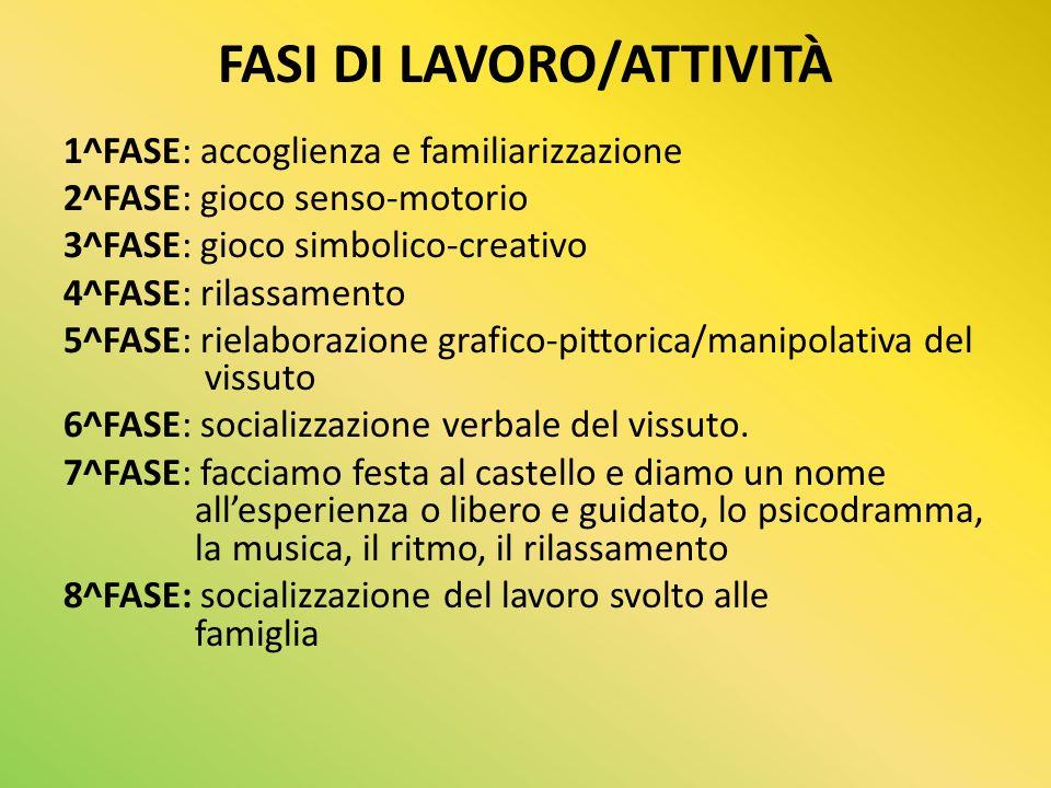 FASI DI LAVORO/ATTIVITÀ