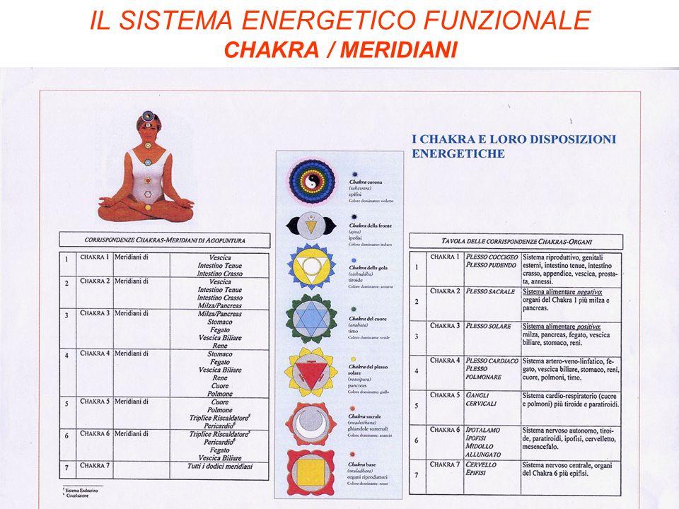 IL SISTEMA ENERGETICO FUNZIONALE CHAKRA / MERIDIANI