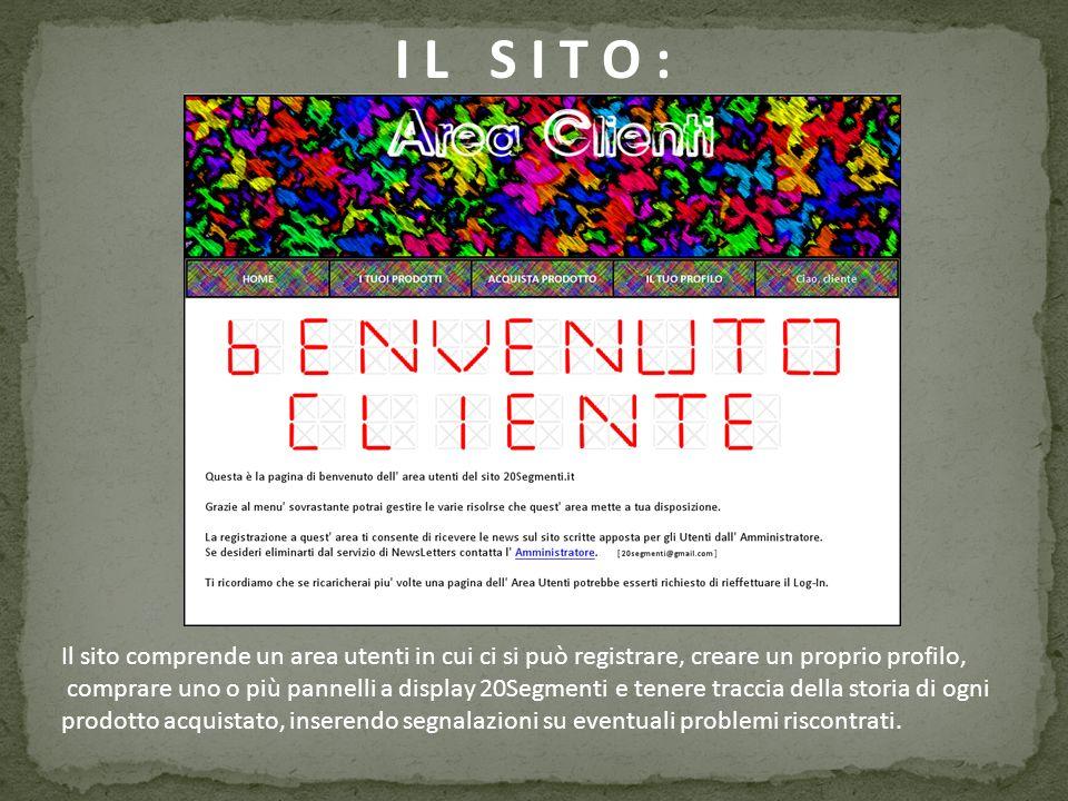 I L S I T O : Il sito comprende un area utenti in cui ci si può registrare, creare un proprio profilo,