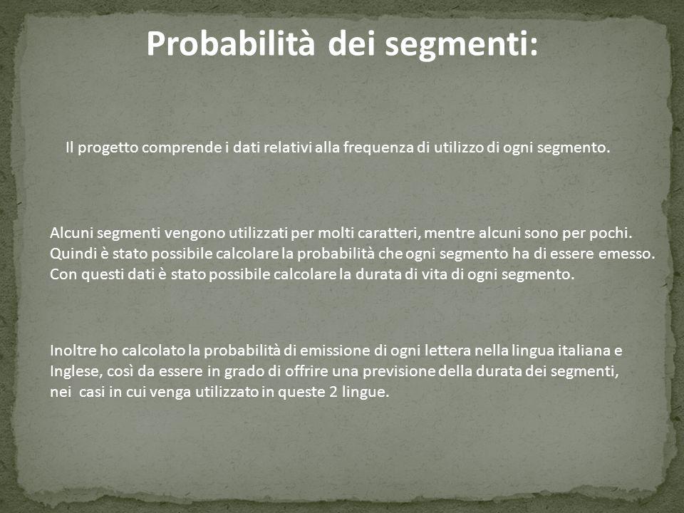 Probabilità dei segmenti: