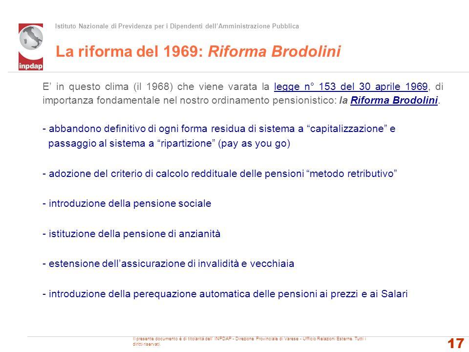 La riforma del 1969: Riforma Brodolini
