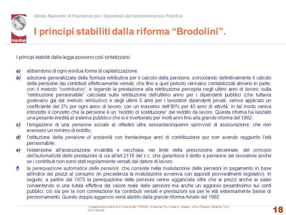 I principi stabiliti dalla riforma Brodolini .