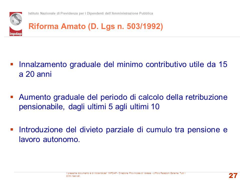 Riforma Amato (D. Lgs n. 503/1992)