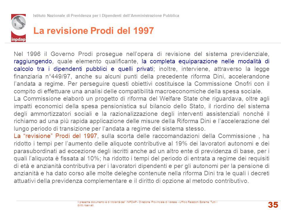 La revisione Prodi del 1997