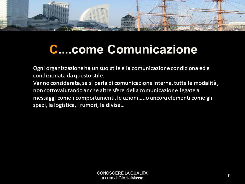 CONOSCERE LA QUALITA a cura di Cinzia Massa
