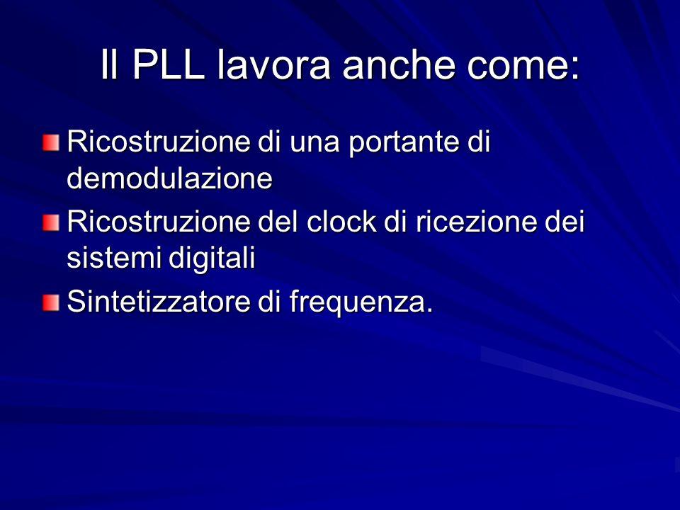 Il PLL lavora anche come: