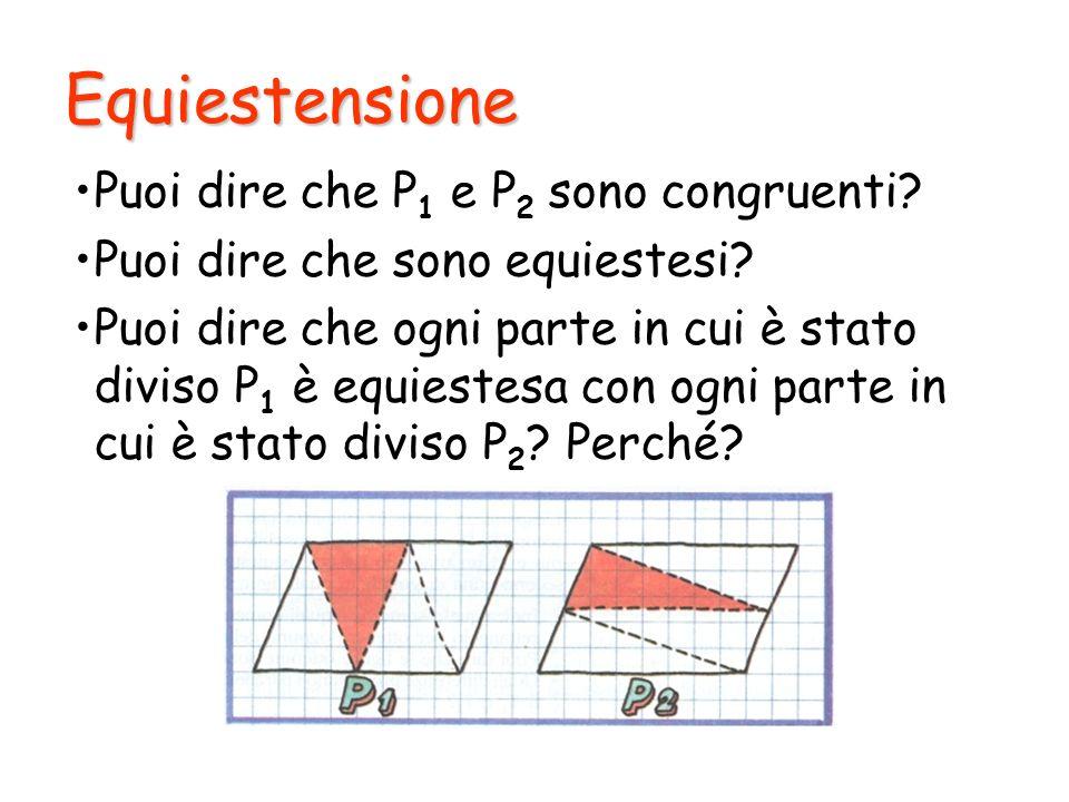 Equiestensione Puoi dire che P1 e P2 sono congruenti