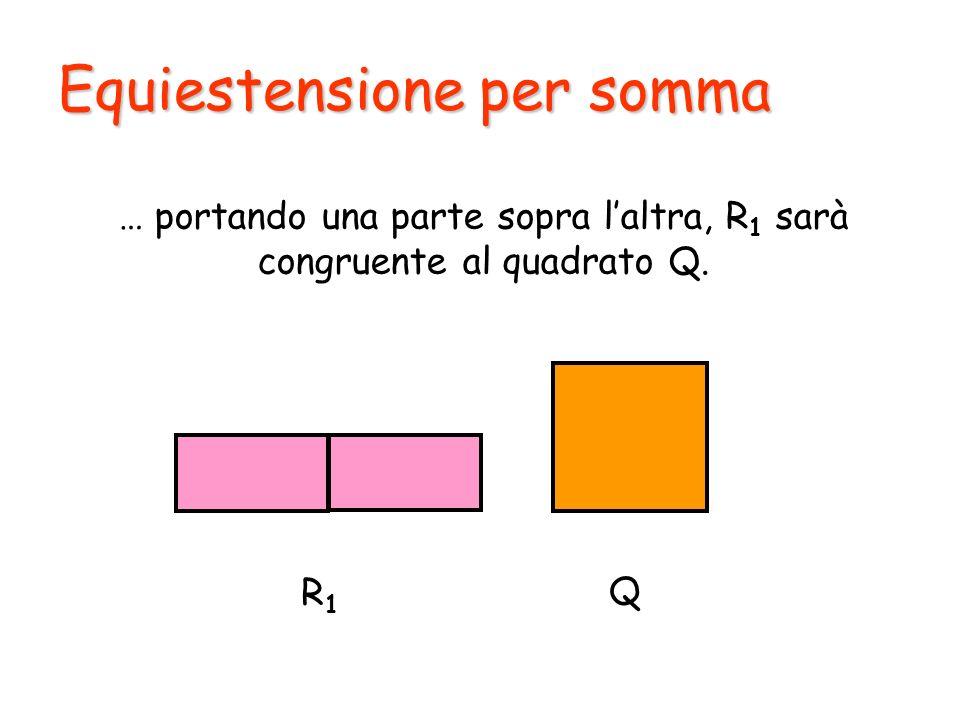 … portando una parte sopra l'altra, R1 sarà congruente al quadrato Q.