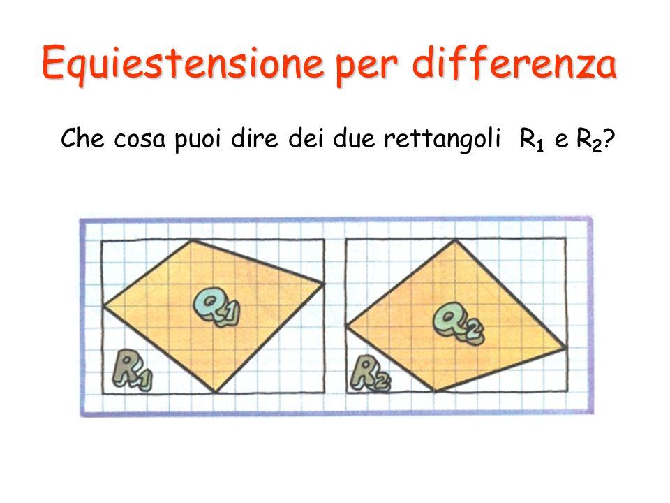 Che cosa puoi dire dei due rettangoli R1 e R2
