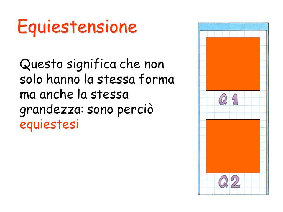 EquiestensioneQuesto significa che non solo hanno la stessa forma ma anche la stessa grandezza: sono perciò equiestesi.