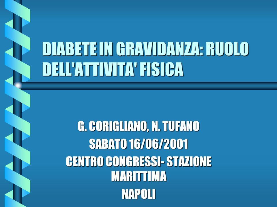 DIABETE IN GRAVIDANZA: RUOLO DELL ATTIVITA FISICA