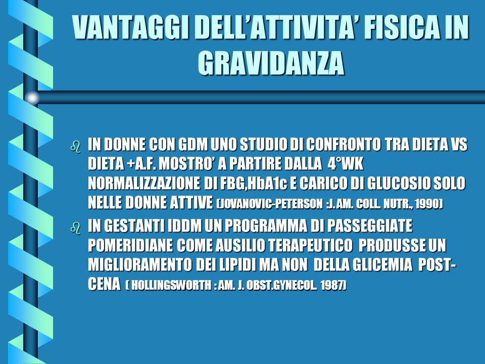 VANTAGGI DELL'ATTIVITA' FISICA IN GRAVIDANZA