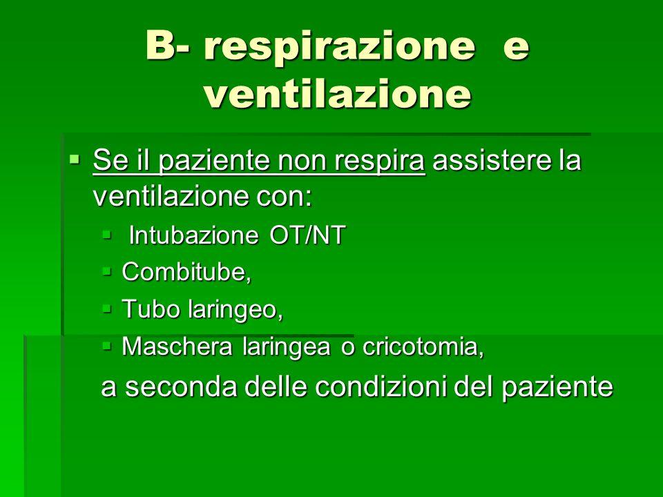 B- respirazione e ventilazione