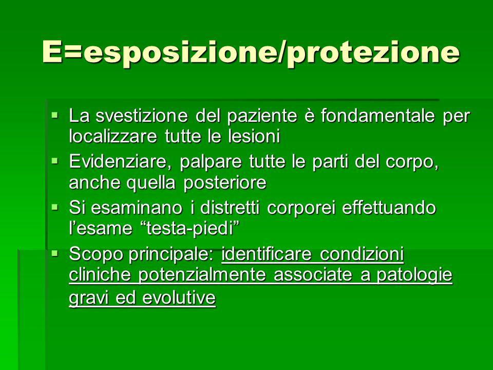 E=esposizione/protezione