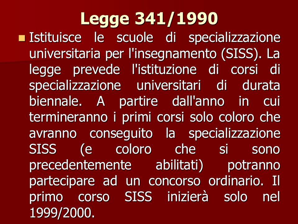 Legge 341/1990