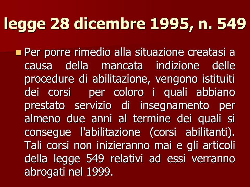 legge 28 dicembre 1995, n. 549