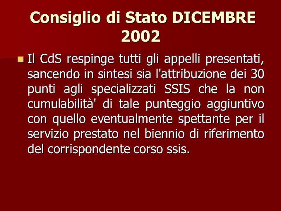 Consiglio di Stato DICEMBRE 2002