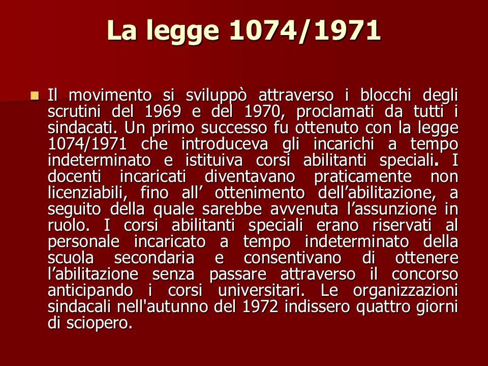 La legge 1074/1971