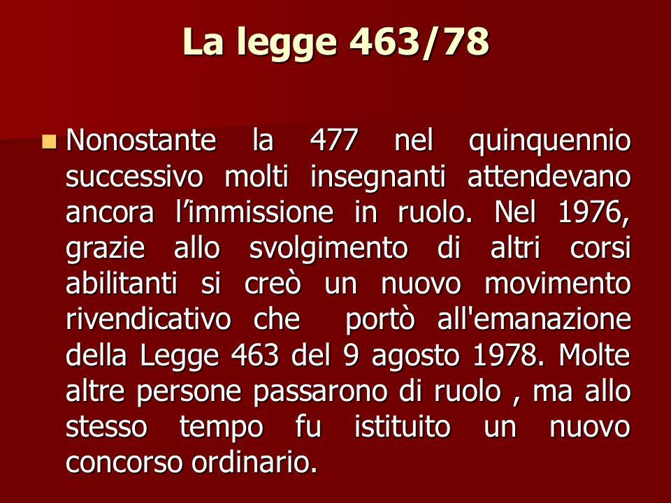 La legge 463/78