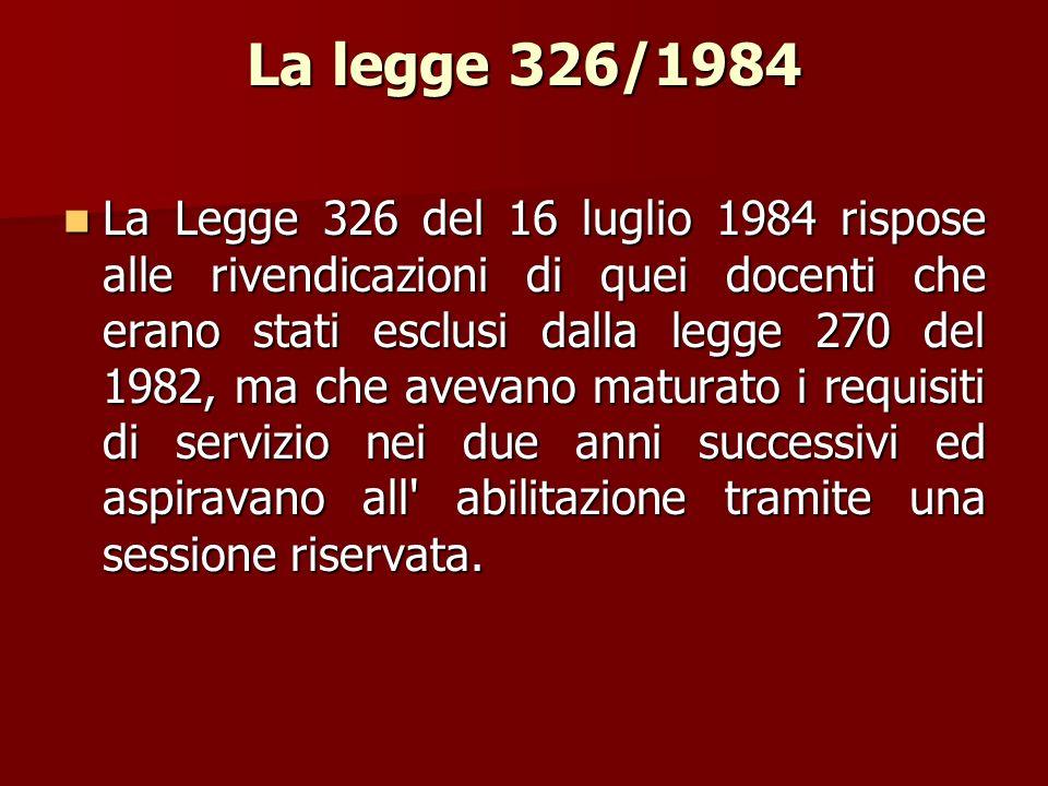 La legge 326/1984