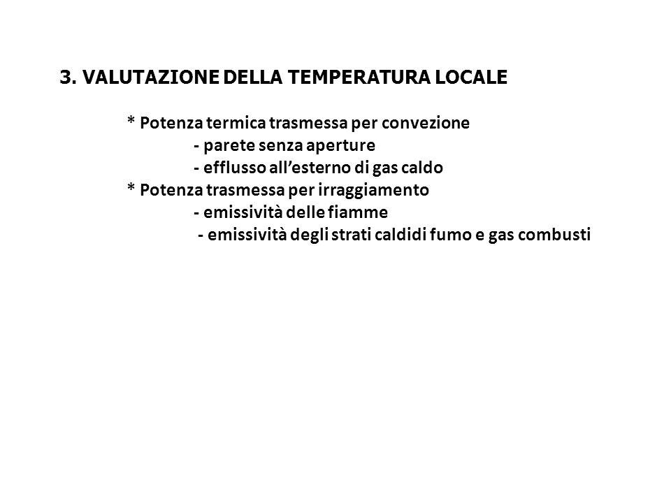 3. Valutazione della temperatura locale