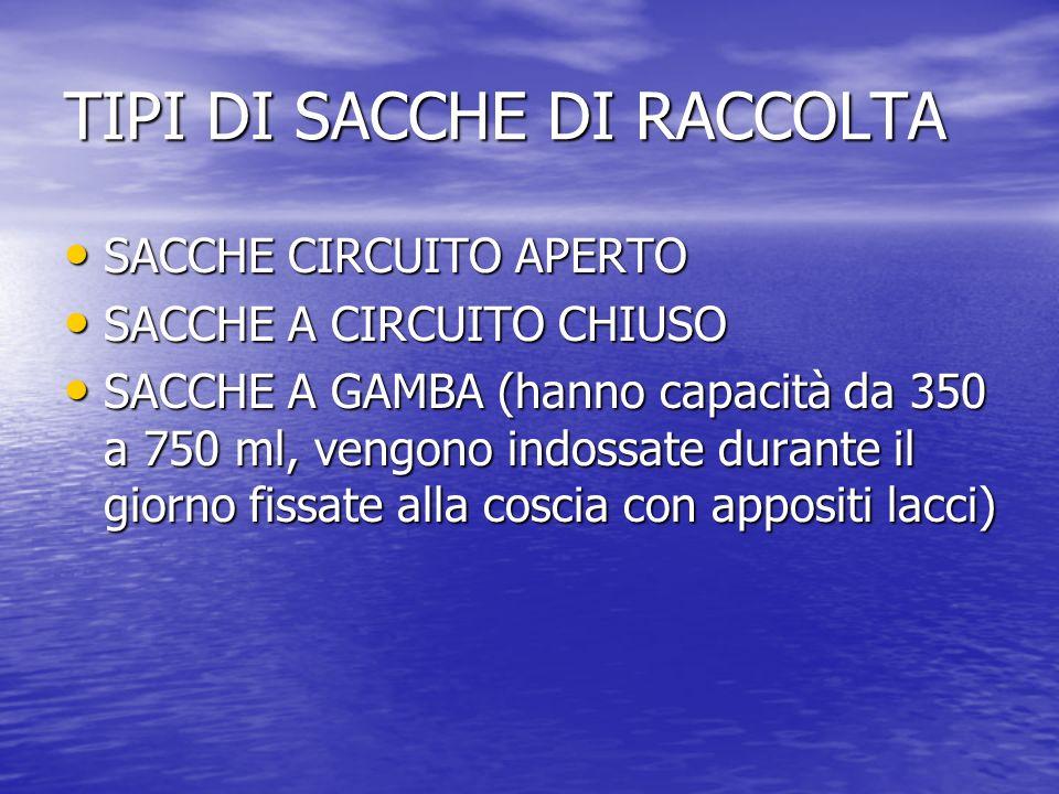 TIPI DI SACCHE DI RACCOLTA