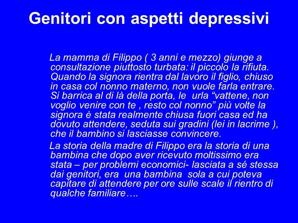 Genitori con aspetti depressivi