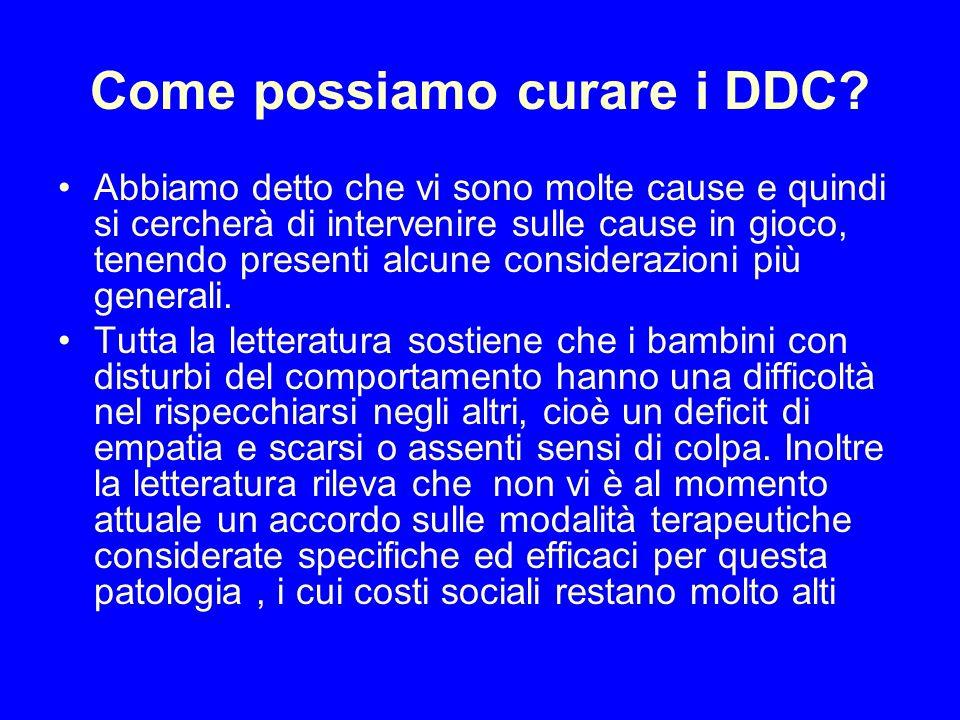 Come possiamo curare i DDC