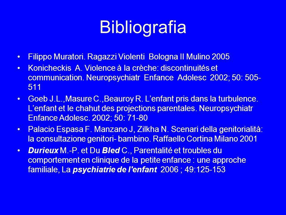 Bibliografia Filippo Muratori. Ragazzi Violenti Bologna Il Mulino 2005
