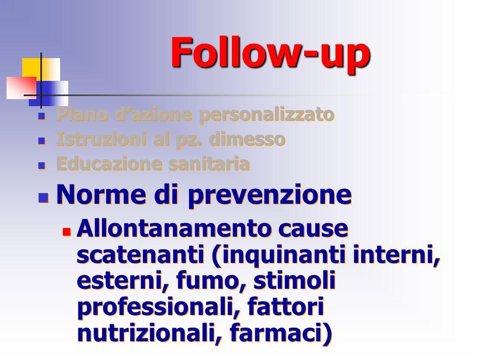 Follow-up Norme di prevenzione