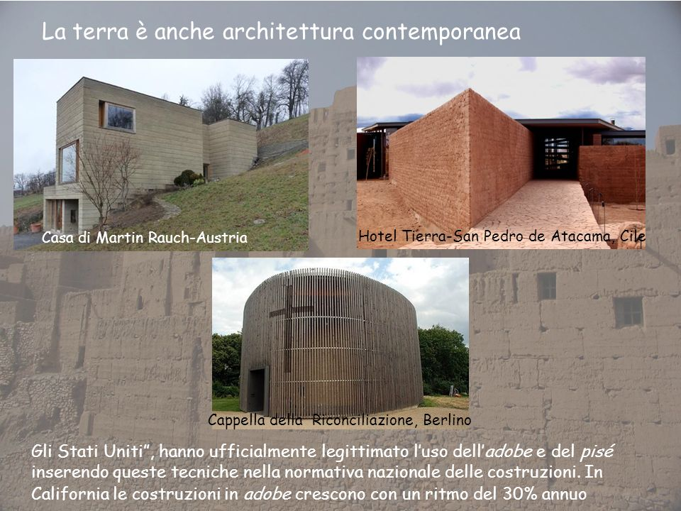 La terra è anche architettura contemporanea