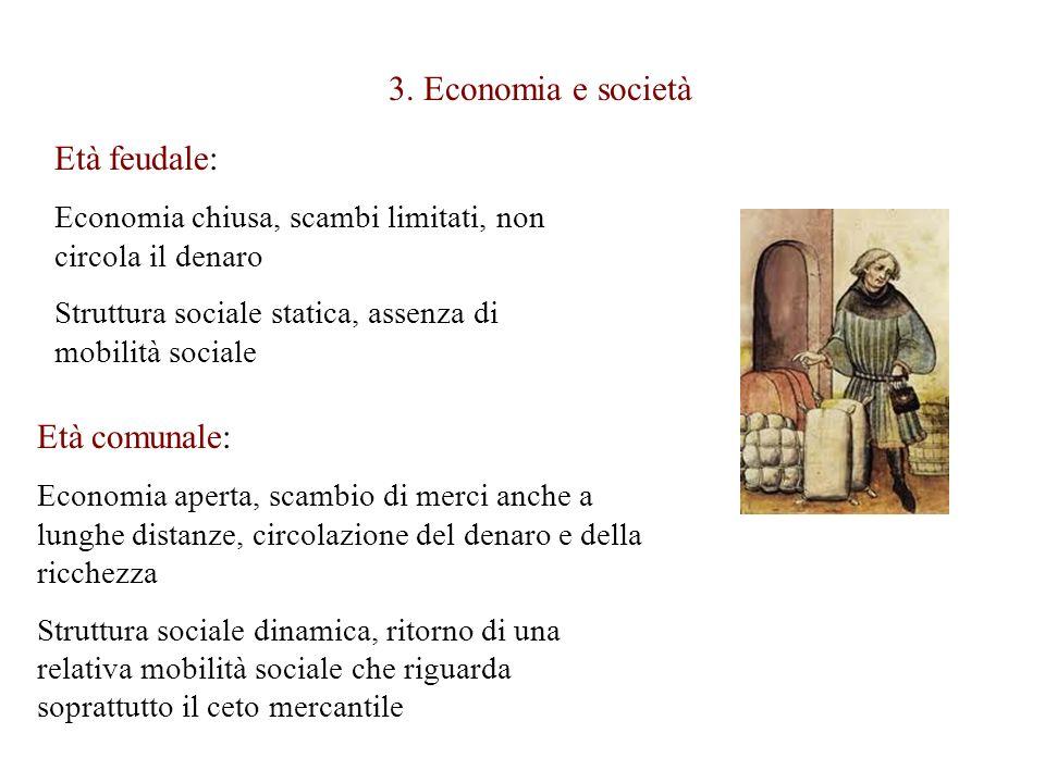 3. Economia e società Età feudale: Età comunale:
