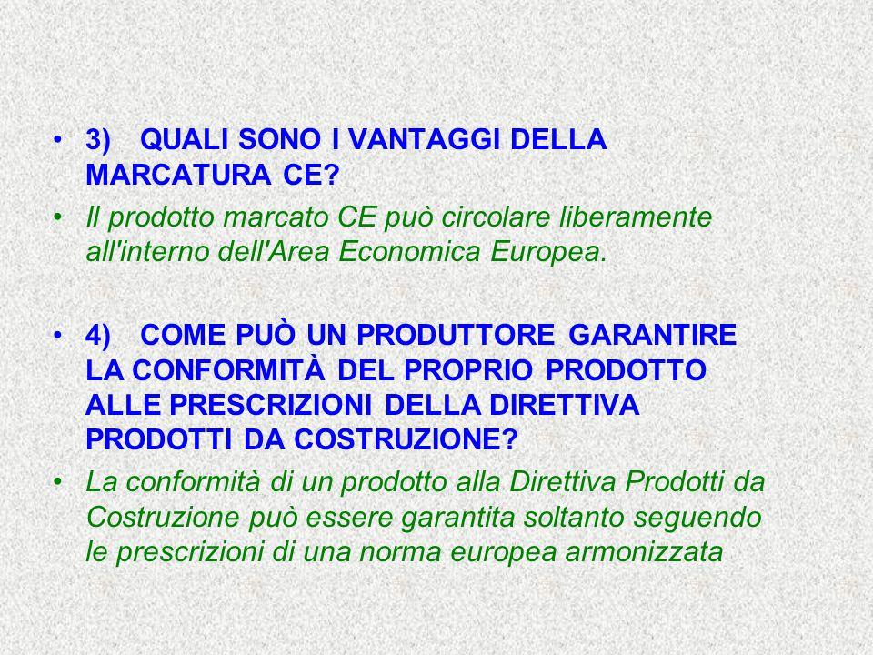 3) QUALI SONO I VANTAGGI DELLA MARCATURA CE