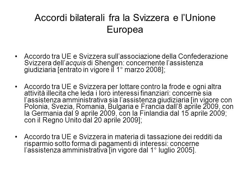 Accordi bilaterali fra la Svizzera e l'Unione Europea
