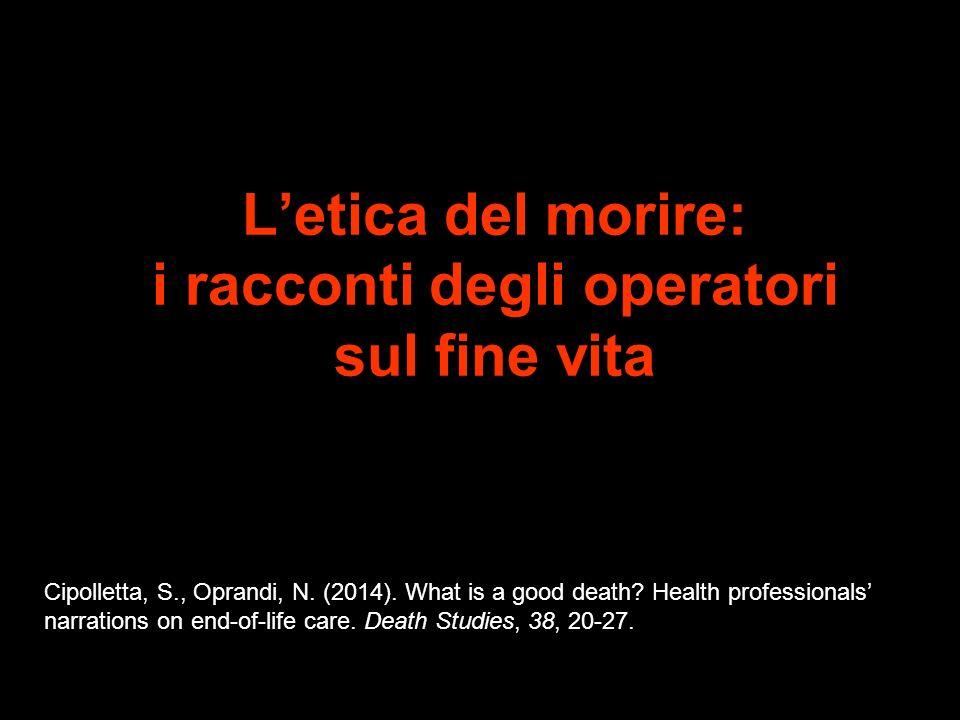 L'etica del morire: i racconti degli operatori sul fine vita
