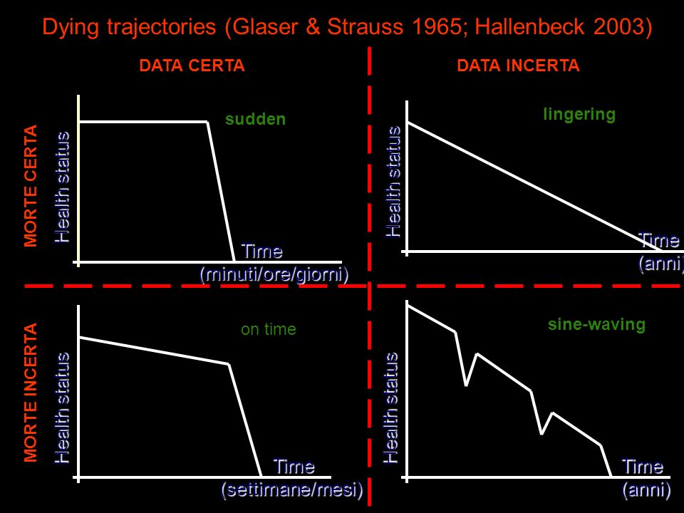 Dying trajectories (Glaser & Strauss 1965; Hallenbeck 2003)