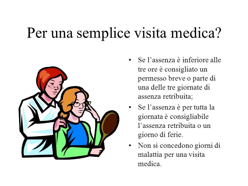 Per una semplice visita medica