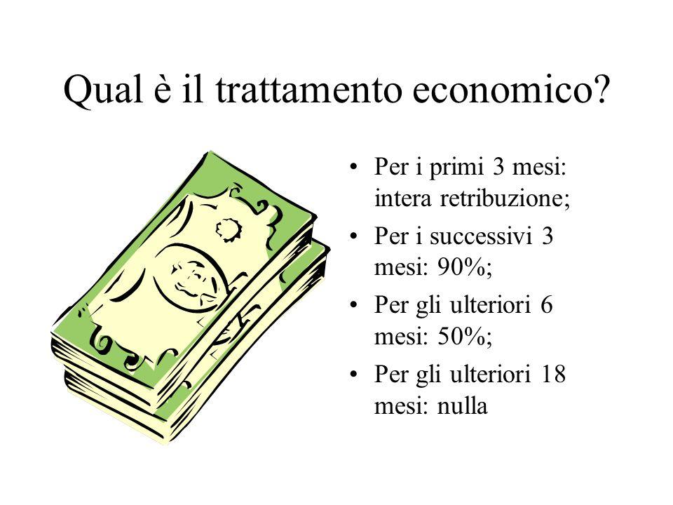 Qual è il trattamento economico