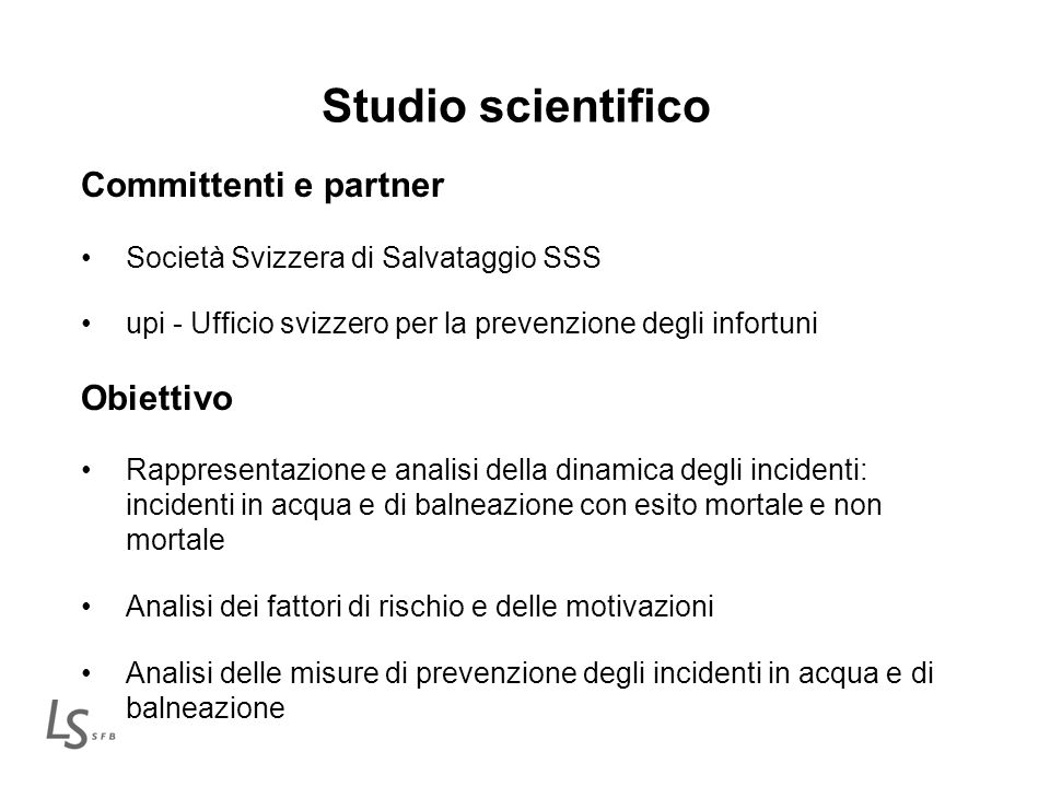 Studio scientifico Committenti e partner Obiettivo