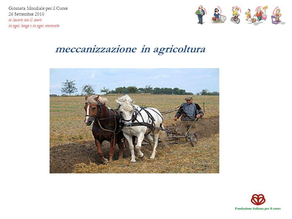 meccanizzazione in agricoltura